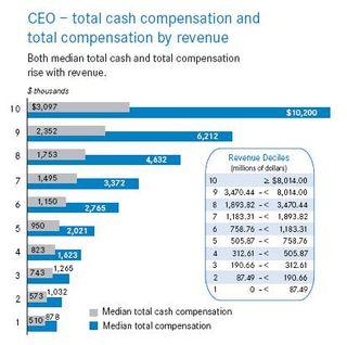 CEO compensation by revenue