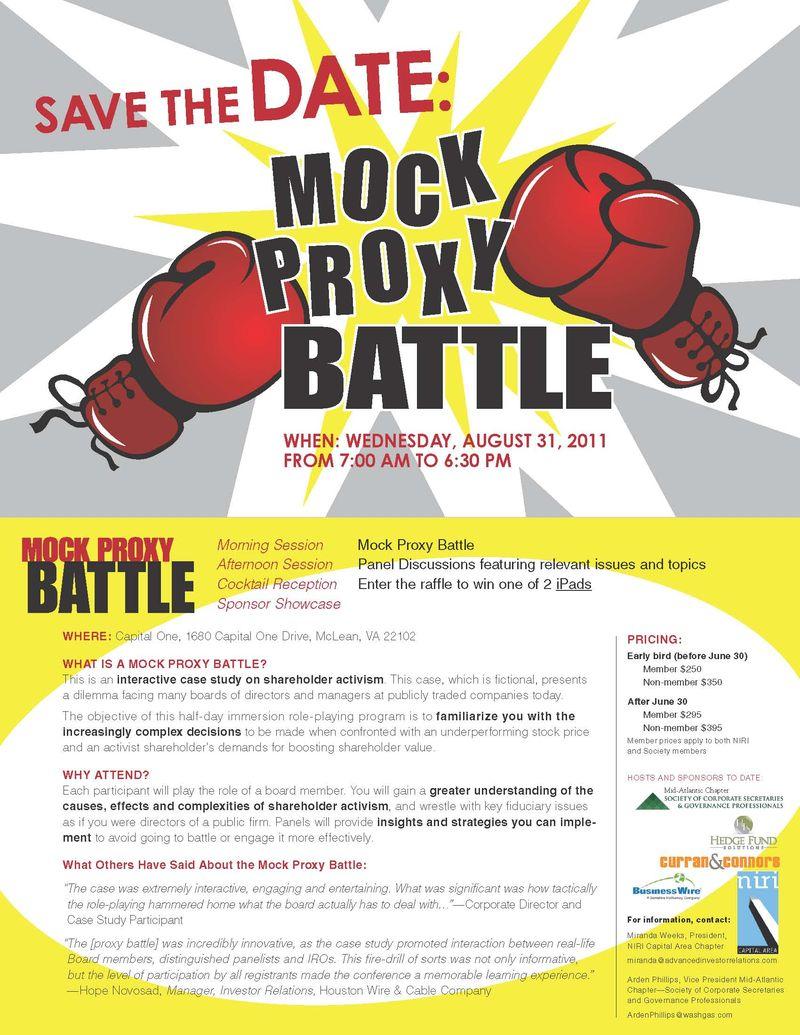 Mock Proxy Battle