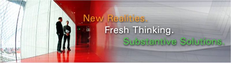 New Realities - Fresh Thinking - Substantive Solutions